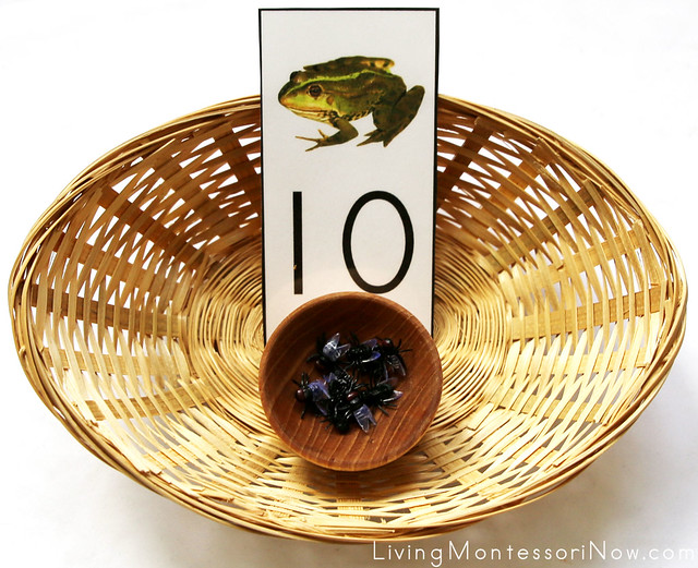 Frog and Flies Number Basket