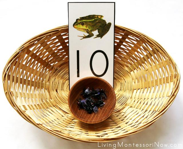 Frog and Flies Number Basket