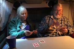 Cards in the van