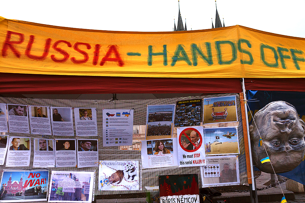 RUSSIA HANDS OFF--Prague
