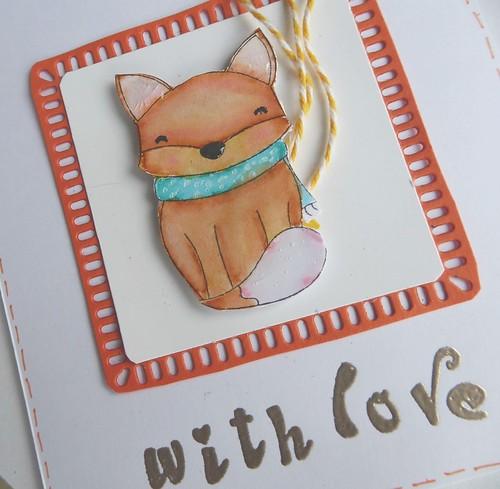 Zum Valentinstag für einen schlauen Fuchs