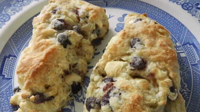 Berry White Chocolate Scones 19