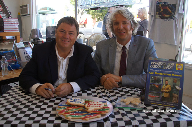 Wheeler Dealer hosts Mike Brewer and Edd China booking signing