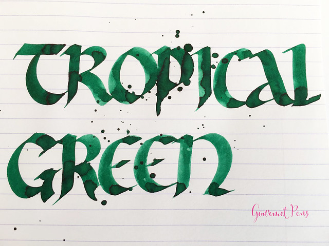Ink Shot Review Diamine 150th Anniversary Tropical Green (7)