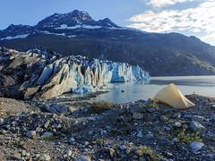 View from Lamplugh Glacier campsite, Glacier Bay National Park, Alaska