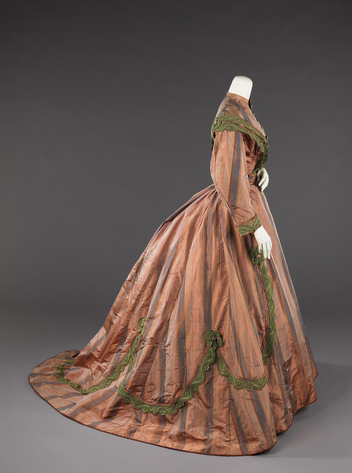 c. 1865. American. silk. metmuseum