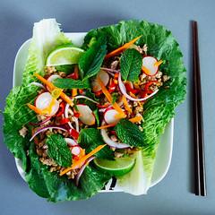 Asian-Style Crispy Pork Salad