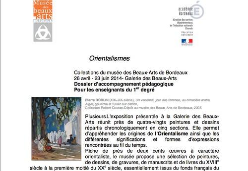 Dossier pédagogique du musée des Beaux-arts Bordeaux