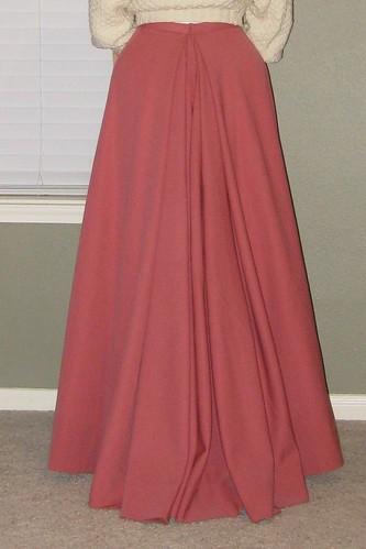 1900s Rose Wool Skirt - Back