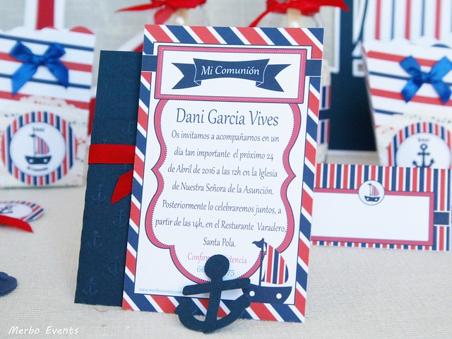Invitaciones Comunion Marinera Merbo Events