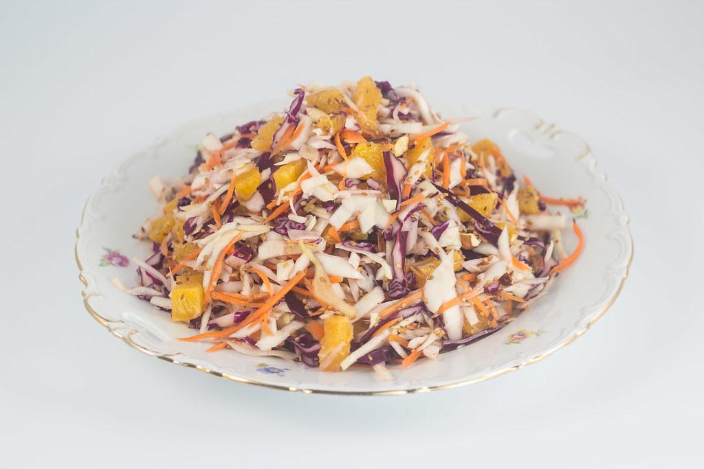 Kålsalat med appelsin