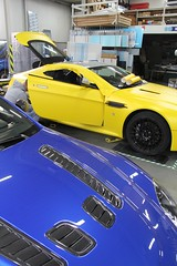 Carwrap and rearlight tinting Aston Martin Vantage Turbo