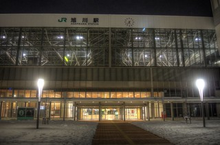 Asahikawa Station in early morning on JAN 04, 2016 (3)