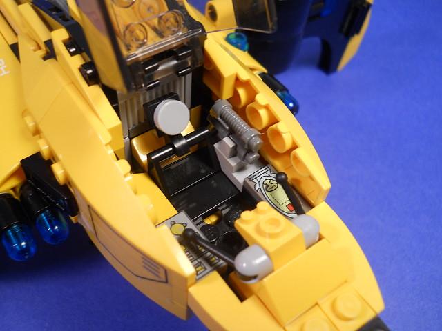 The Astrape, empty cockpit