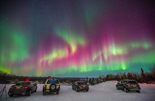 This beautiful shot by @spoart was taken at one of the best spots to see the Northern Lights when they are shining bright. Your local guides on a @gondwana_ecotours Northern Lights Alaskan Adventure know all of the best places to help you get the perfect