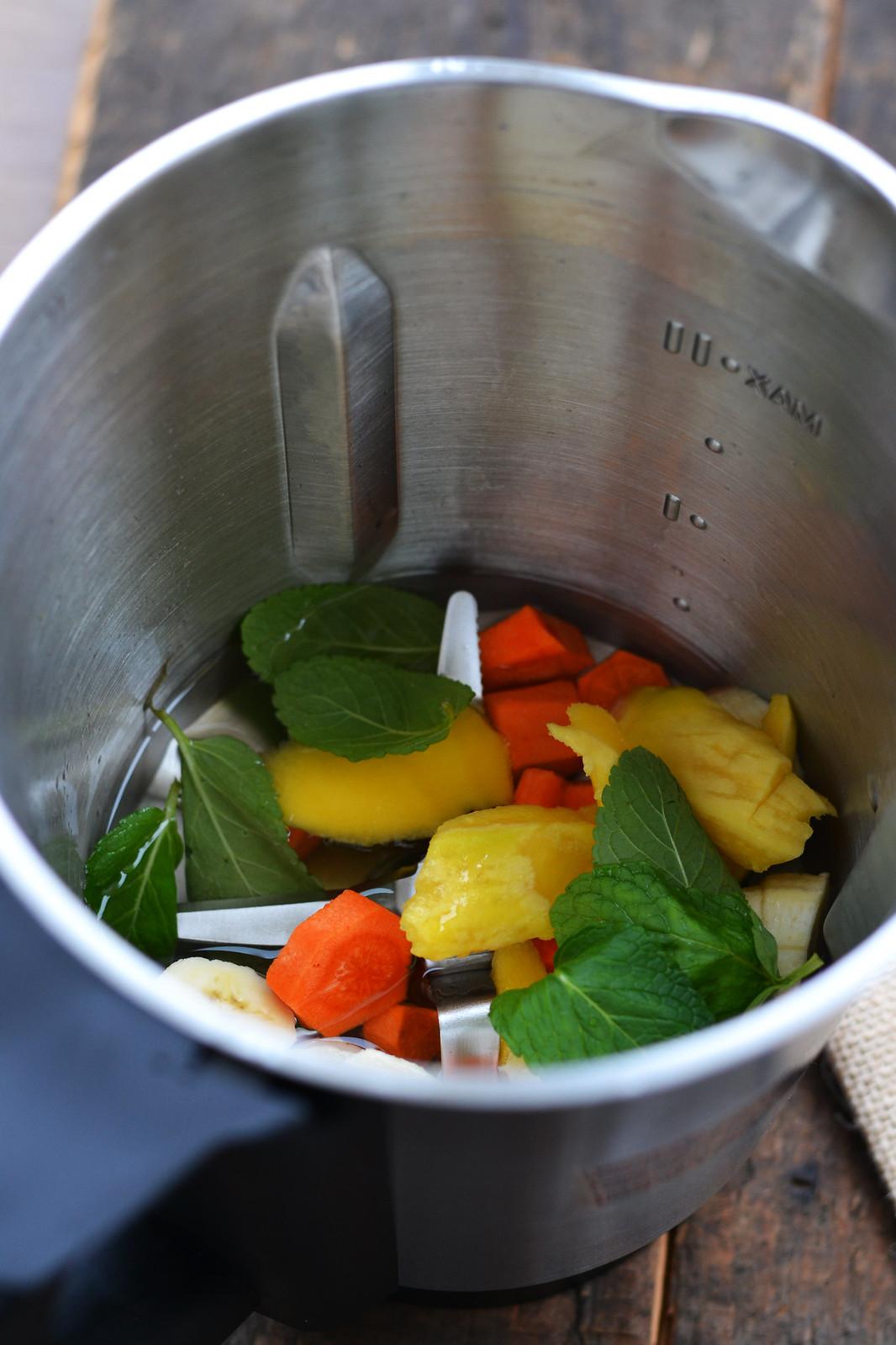 ingrediente in blender