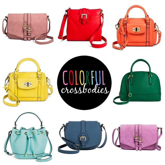 on trend colorful crossbodies; Style On Target