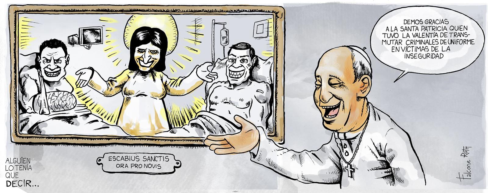Patricia Bullrich y el papa Francisco