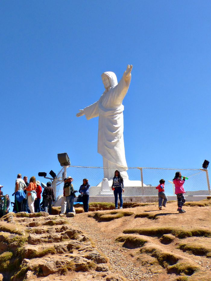 Cusco's version of Brazil's famed Redeemer Statue