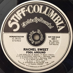 RACHEL SWEET:FOOL AROUND(LABEL SIDE-B)