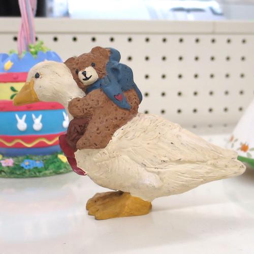 teddy on a goose