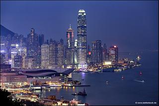 Hong Kong Skyline from Bremar Hill