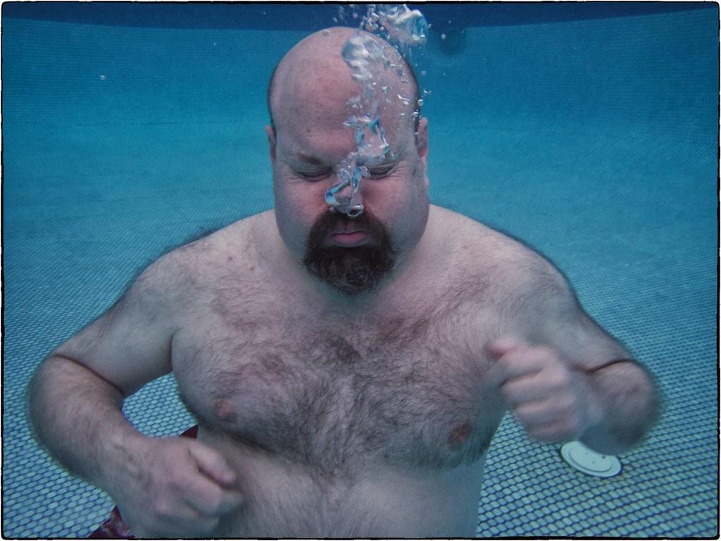 Michael, In The Pool, Hyatt Regency Maui, February 13, 2016