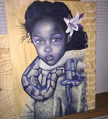 Brave Lilly, oil on panel, almost finished. :cherry_blossom: #childhooddreams + #conqueredfears