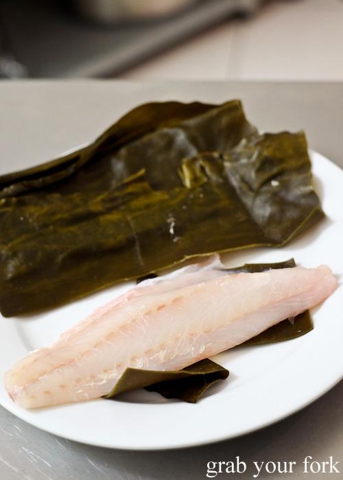 Hobo red gurnard cured wih sake and salt at Sashimi Shinsengumi, Crows Nest