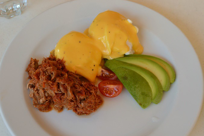 Eggs Benny with pulled pork
