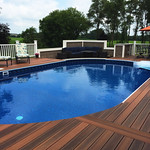 DuraLife Siesta decking in Brazilian Cherry