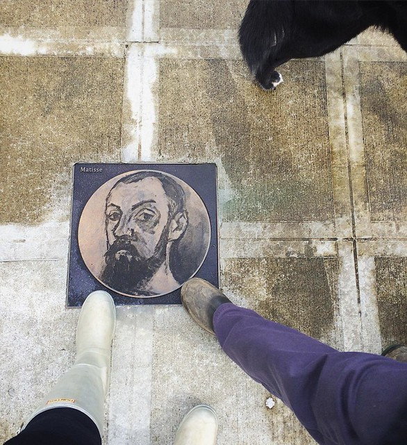 Stepping on Matisse. 🎨