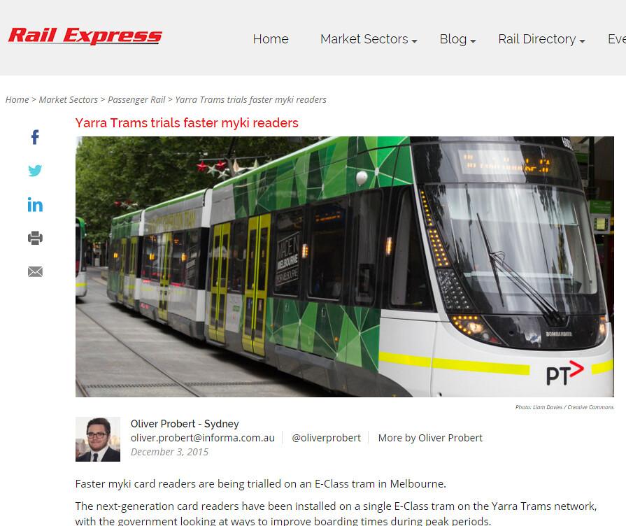 B-class tram in Rail Express