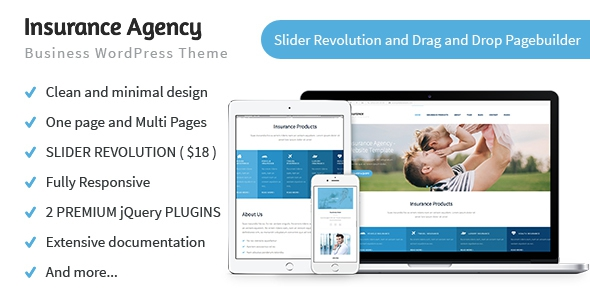 Themeforest Insurance Agency v1.0.5 - Business and Insurance WP Theme