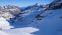 Trasa zjazdu z przełęczy Gran Etret 3002m.