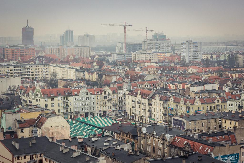 Cloudy day in Jezyce, Poznan