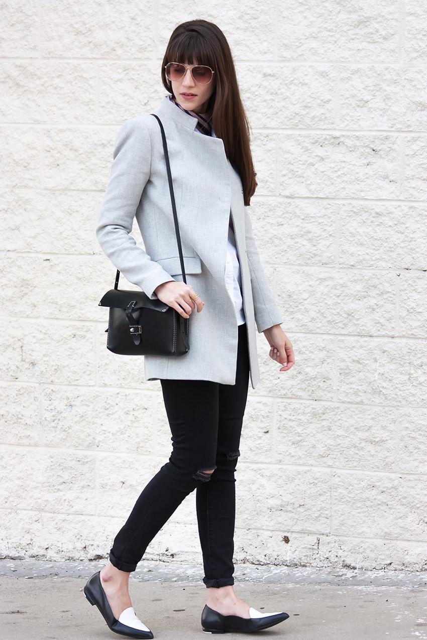 Everlane Modern Point Loafer, Zara Coat