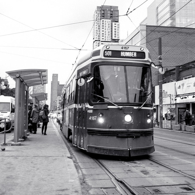 The 501 Humber Waiting at Spadina_