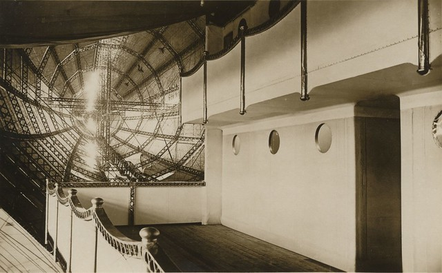 Interior of the R100 Airship (Howden Aerodrome) 1933 (archive ref DDX1017-1)