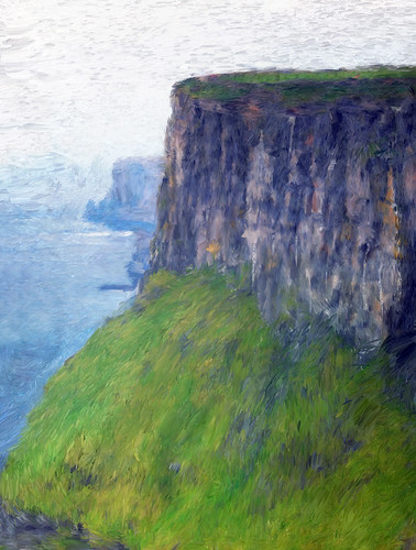 The Cliffs of Moher painted in Psyko Paint