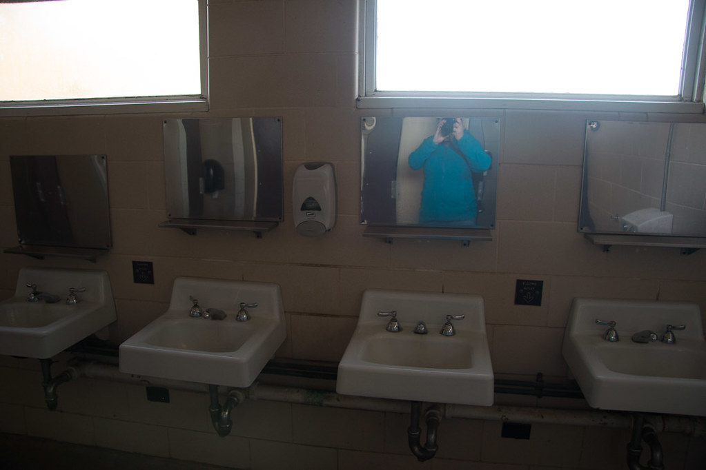 Restrooms at campsite