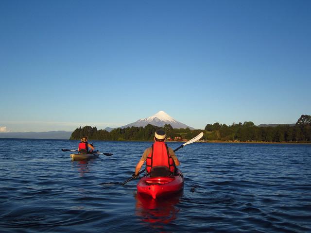 Kayaking in Lago Llanquihue, near Puerto Varas, Chile