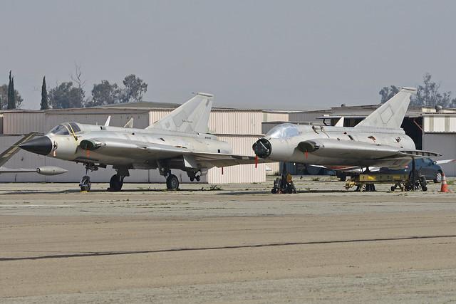 Saab Draken pair 'N35350' & [N543J]
