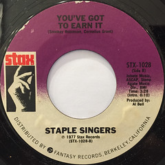 STAPLE SINGERS:RESPECT YOURSELF(LABEL SIDE-B)