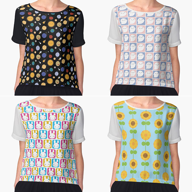 Chiffon tops at Redbubble