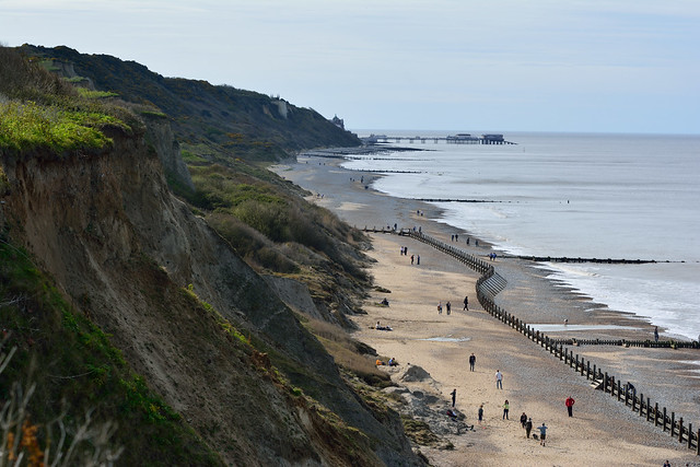 View of Cromer from Overstrand Cliffs