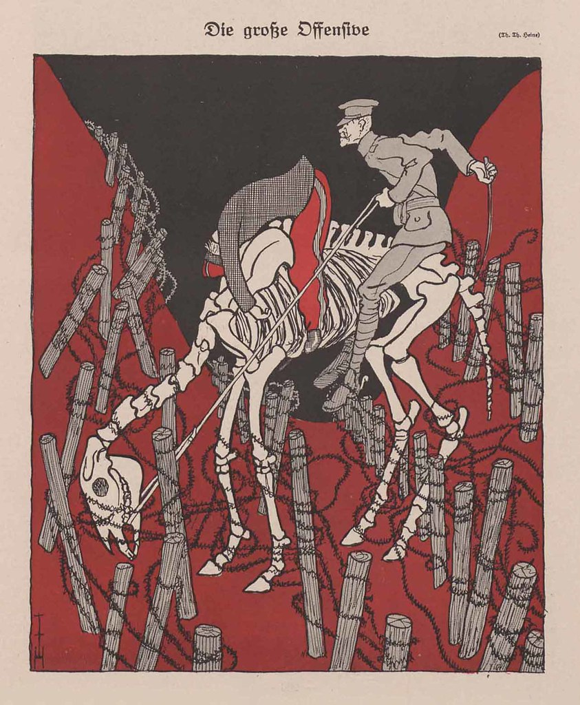 Thomas Theodor Heine - The Major Offensive, 1916