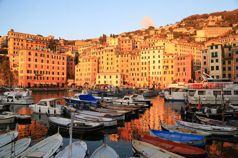 camogli sunset