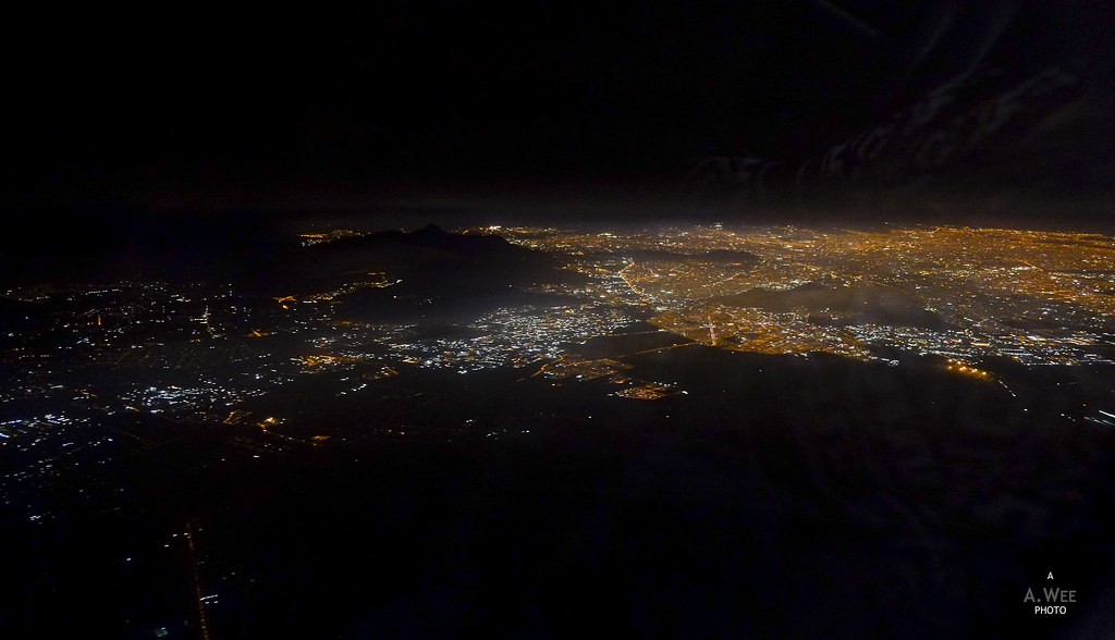 Night view over Santiago