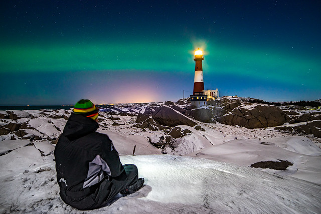Aurora dream at the lighthouse